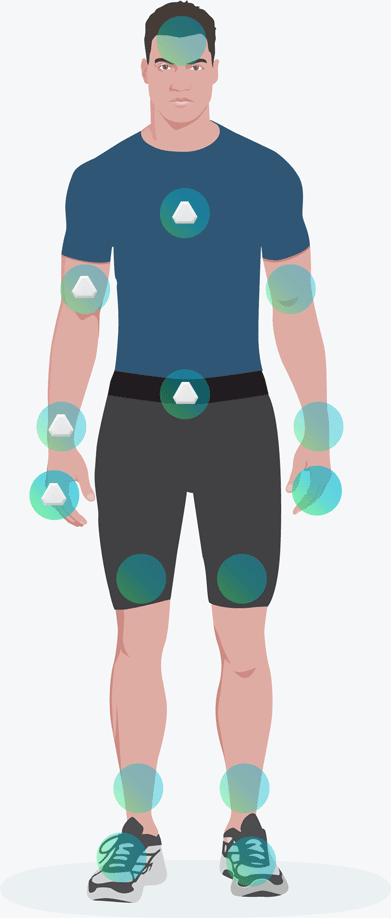 Starter Capture, Right Arm and Chest configuration